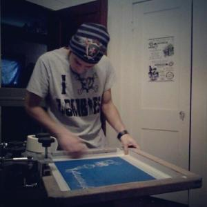 Jeremy prepping for printing