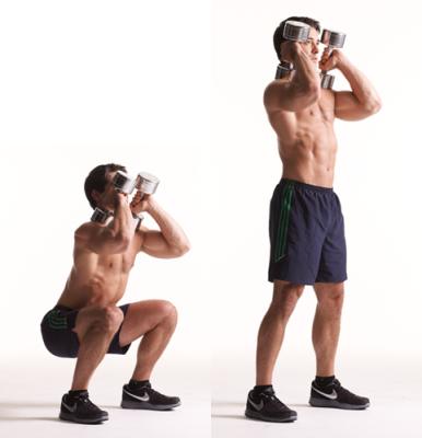 dumbbell-front-squat